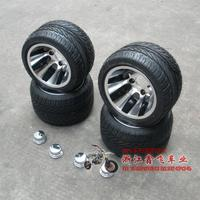 Atv 10 aluminum wheels vacuum tyre flat beach car 10 tyre aluminum rim set