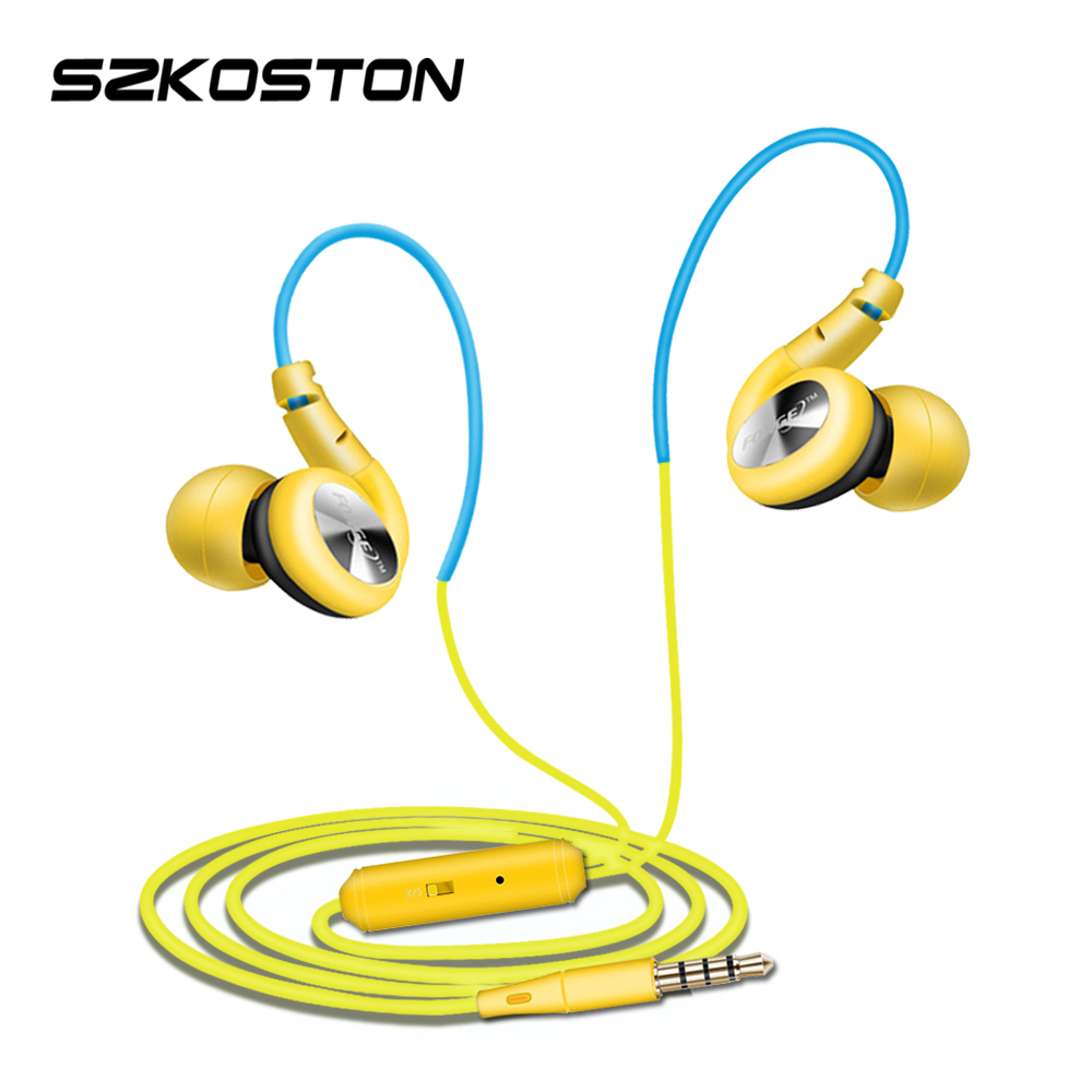 Sport Sweat proof Earphone With Mic S800 In Ear 3.5mm Jack Wire Super bass Headset Noise Cancelling For iphone Samsung xiaomi 3 5mm jack headset earphone mic