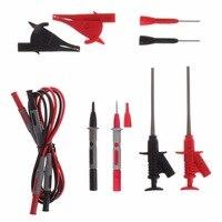 10pcs Multimeter Needle Tip Probe Test Leads 4mm Banana Plug Alligator Clip Kit MAY14 Dropshipping