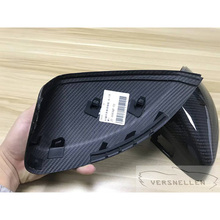 High Quality Perfect Fitment 100% DRY Carbon Fiber Mirror Caps for Audi A3 / S3 8V 2014 up With Lane Assist 1:1 Replacement