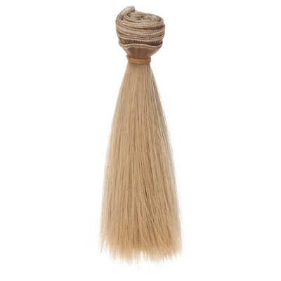1 шт. 15 см * 100 см толстые прямые волосы для кукол 1/3 1/4 BJD SD куклы парики Черный Золотой коричневый