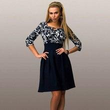Casual Style Women Summer Dress Sexy Half Sleeve Print Office Shirt Dresses Patchwork Work Wear A-line Dress S-5XL Size