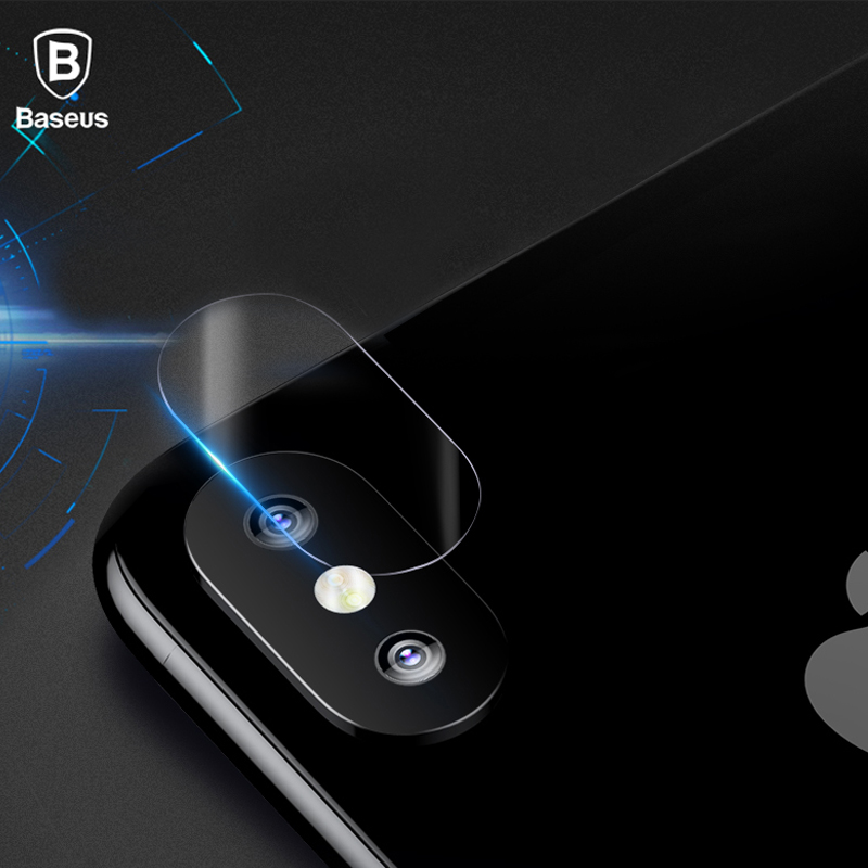 Baseus 0.15mm Transparent Camera Lens Tempered Glass Screen Protector For iPhone X 10 Clear Back Cover Phone Lens For iPhoneX