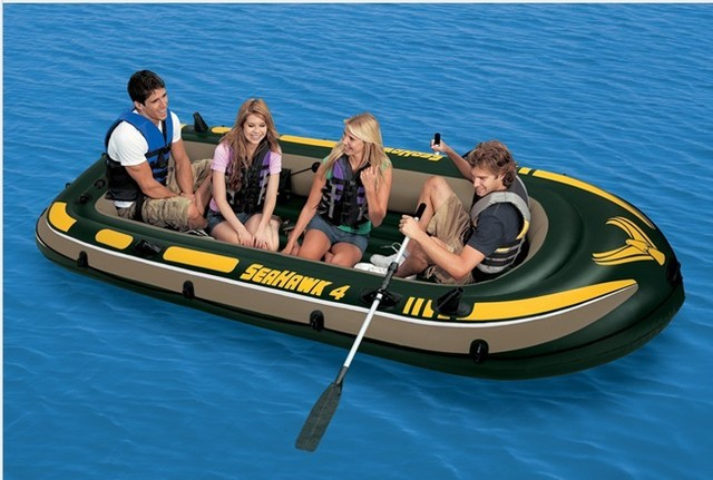 Intex seahawk 4 person fishing inflatable boat inflatable for 4 person fishing boat