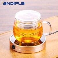 New Portable Mini Heater Insulation Base Intelligent Thermostat Coffee Milk Tea Warmer Glass Teapot Trivets Tea Set Accessories
