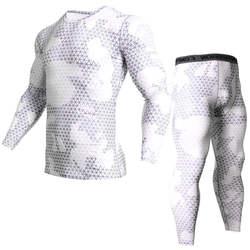 Рубашка сжатия Тактический ММА rashgard союз костюм 2018 Для мужчин; футболка с длинными рукавами + Колготки для Для мужчин комплект Штаны Фитнес