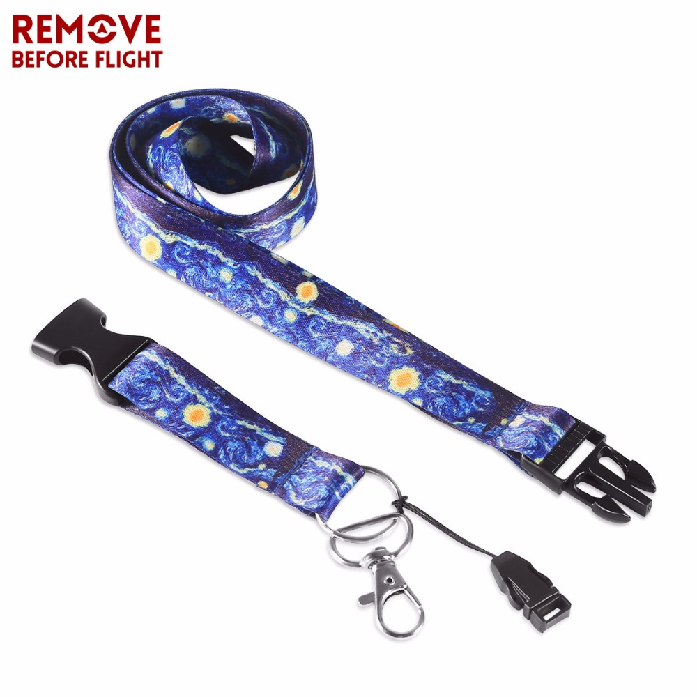 Arts,crafts & Sewing Home & Garden 2019 Fashion 5pcs Novelty Van Gogh Starry Night Lanyard For Id Badge Card Pass Gym Mobile Phone Usb Badge Holder Hang Rope Lariat Lanyard Beautiful In Colour