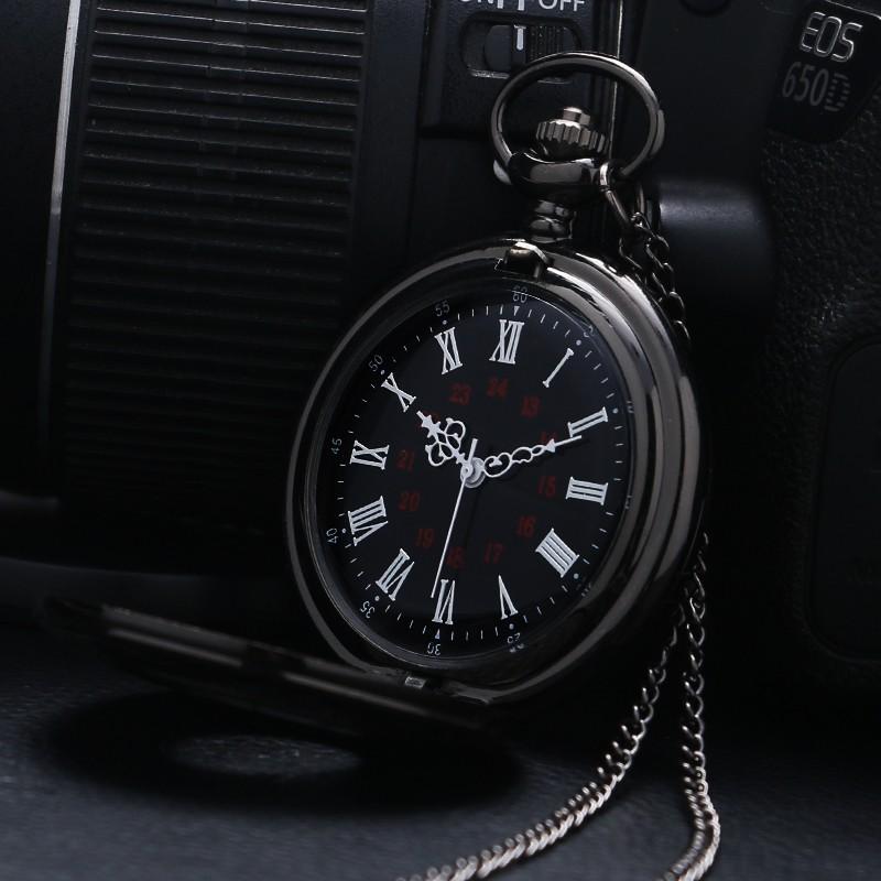 black steampunk watch open