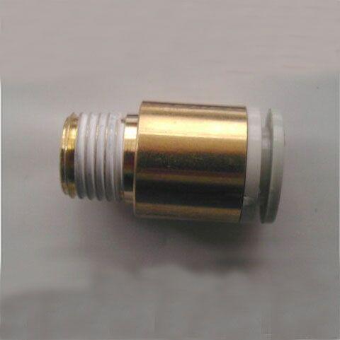 Tubo 6mm-1/4 PT rosca neumática redonda macho Ajuste Recto