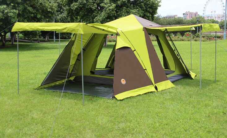 Four door with snow skirt is more than 3 to 4 people camping tent camping double tents Outdoor tenAutomatic camping outdoor tent outdoor camping hiking automatic camping tent 4person double layer family tent sun shelter gazebo beach tent awning tourist tent