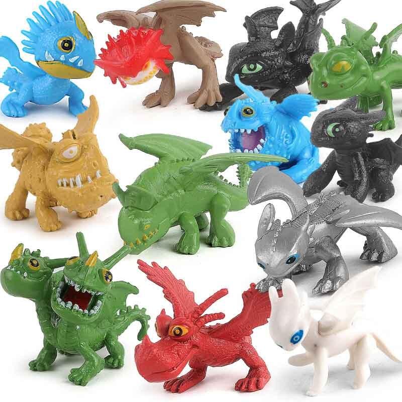 Dragão Action Figure Toys Fúria Desdentado Fúria Da Noite Luz Dragão Aciton Figura Modelo Brinquedos Caçoa o Presente