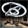 LED Diamond Ring Crystal Chandelier Light Modern LED Circle Chandelier Lamp Lights Light Fixture Ready Stock