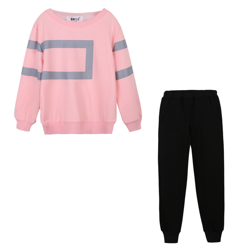 Teenage Girl Clothing Spring Autumn Children Coats & pants Twinset kids Casual Sports Suit Girls Clothing Sets Tracksuits