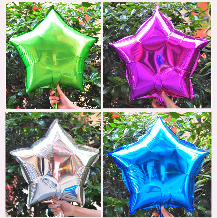 OURUOLA Free Ship 18inch 30pcs Five-Point Star Promotion Toy Foil Balloons  Part