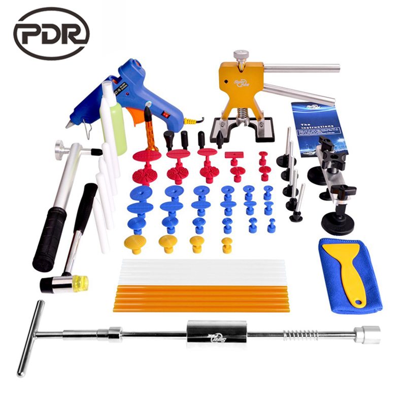 PDR Tools Paintless Dent Repair Tool Car Body Repair Kit Dent Puller Kit Slide Hammer Dent Lifter Suction Cup Hand Tools Set watch repair tool kit watch tools 9 5cm 4 5cm pins puller watchmaker tools watch hand remover tool parts accessories
