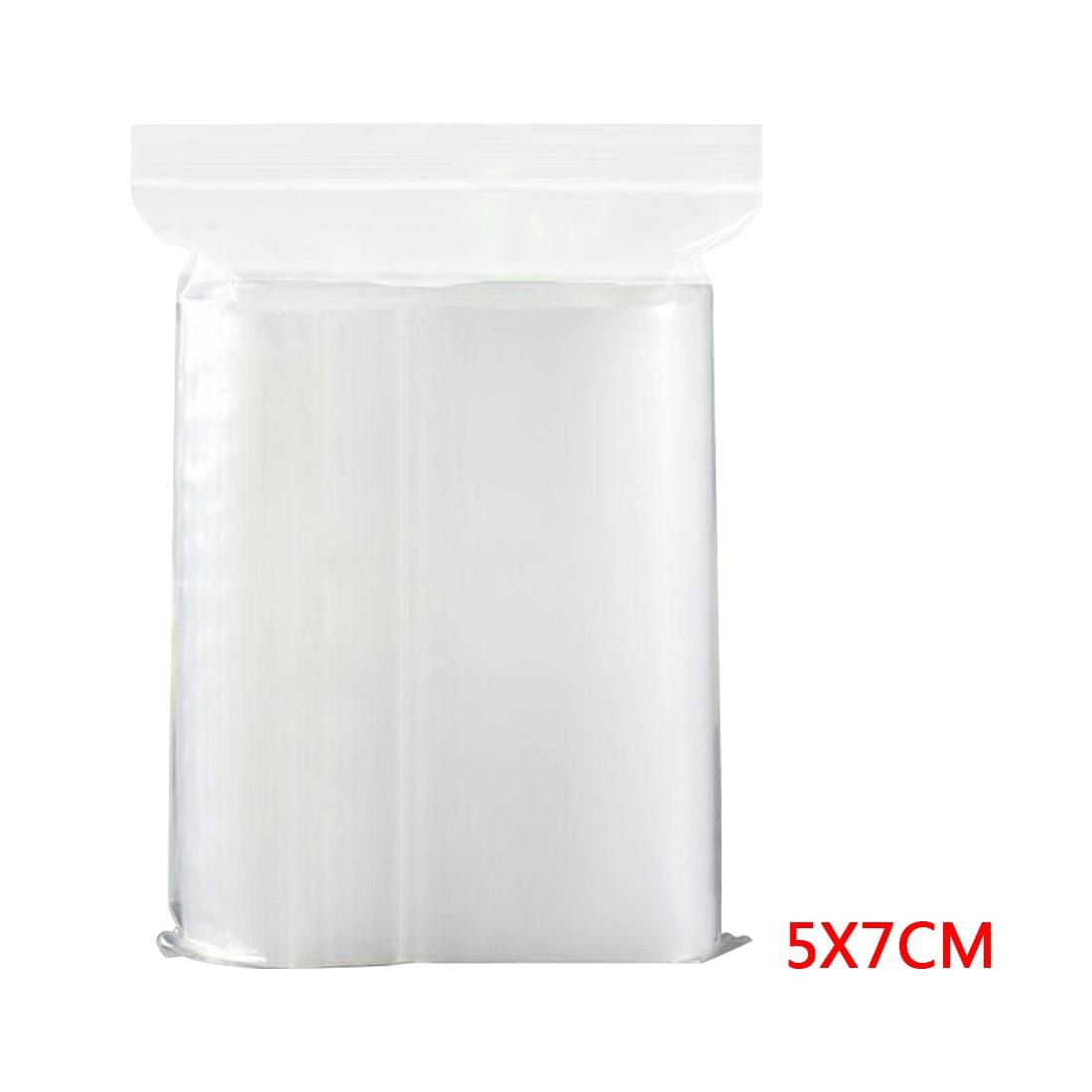 Best 100 Pcs Plastic Bags White Grip Self Press Seal Resealable Zip Lock