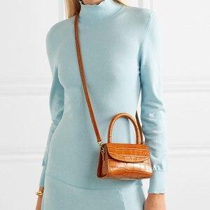 Image 3 - Bolsa Feminina Fashion Alligator Top handle Handbag Designer Women Crossbody Bag Mini Shoulder Messenger Bags for Women 2019 Sac