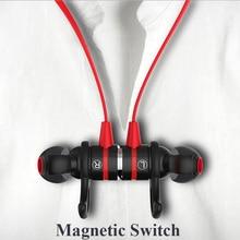 Marca Turn on/OFF pelo Ímã magnético fone de ouvido bluetooth Sem Fio fone de ouvido estéreo com MICROFONE fone de ouvido para O Iphone Samsung