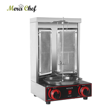 ITOP Shawarma Grill Two Infrared Burners Gas Electric 2 in1 Automatic Rotating Doner Kebab Machine Stainless Steel BBQ