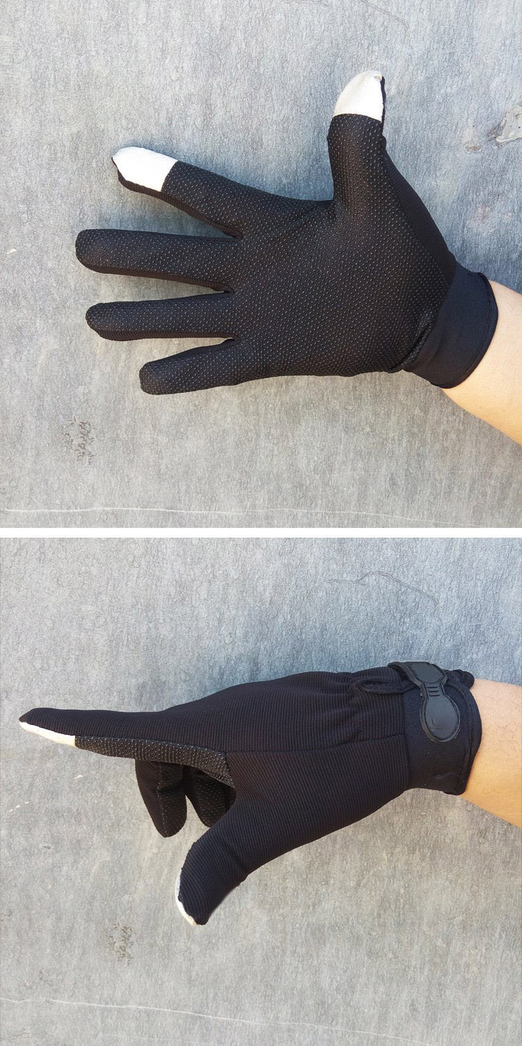 Mittens outdoor long thin spring spring men's sports riding gloves tactical black skid sunscreen breathable touch commando outdoor climbing half finger gloves tactical combat tactical black hawk riding fitness boxing gloves