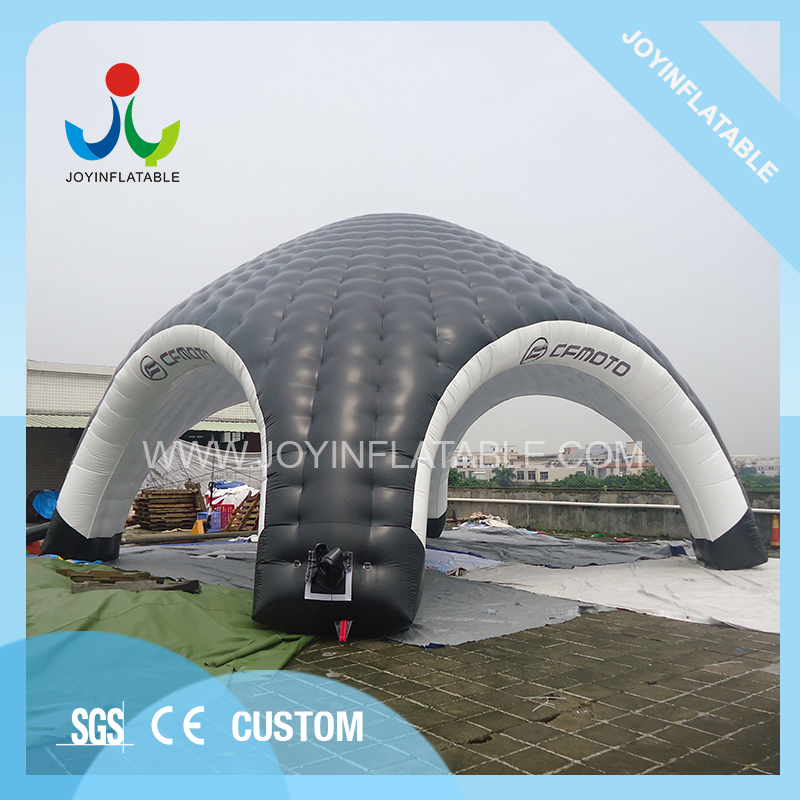 10X10M Gaint Inflatable Domes Car Tent for Camping,Black and White Inflatable Spider Tent with Waterproof 2