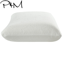Papa&Mima Single Solid color Latex Pillow Knitted cotton  pillow 60*40*14/14cm Beige