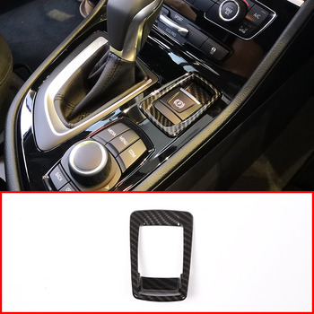 Carbon Fiber For BMW 2 Series 218i Gran Tourer F45 F46 ABS Electronic Handbrake Button Cover Trim Car Accessories 2015-2018 image