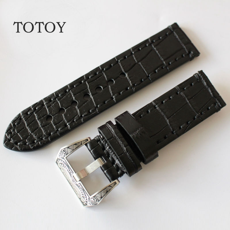 Handmade Leather Watchbands, American Crocodile Leather Strap, 20MM 22MM 24MM 26MM Retro Style Strap,Fast Delivery handmade leather watchbands version classic men black 24mm 26mm watchbands for panerai strap fast delivery