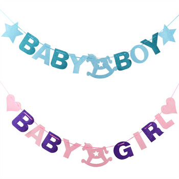 3M Baby Shower Baby Boy Girl Felt Banner Party Decoration Bunting Party Favor Party Supplies birthday party decorations kids oh baby oh girl oh boy banner sign banner banner baby shower decorations girl boy unisex baby shower bunting suplies