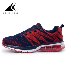 Nika Air Max Mens Running Shoes Outdoor Durable Rubber Zapatillas Deporte Mujer Breathable Flyknit Comfort Shoes 2017