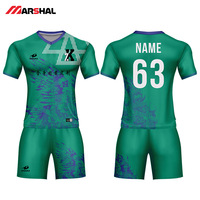 Customized team soccer uniforms with numbers custom design plain football jersey kits for sale