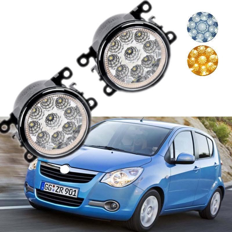 For Opel Agila 2008-2016 9-Pieces Leds Chips LED Fog Light Lamp H11 H8 12V 55W Halogen Fog Lights Car Styling car styling for dacia renault sandero 2010 2016 9 pieces leds chips led fog light lamp h11 h8 12v 55w halogen fog lights