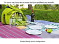Мешок пикника с посуда посуда новый модный Портативный столовые приборы фрукты зеленый четырех человек открытый набор путешествия кемпинг мешок