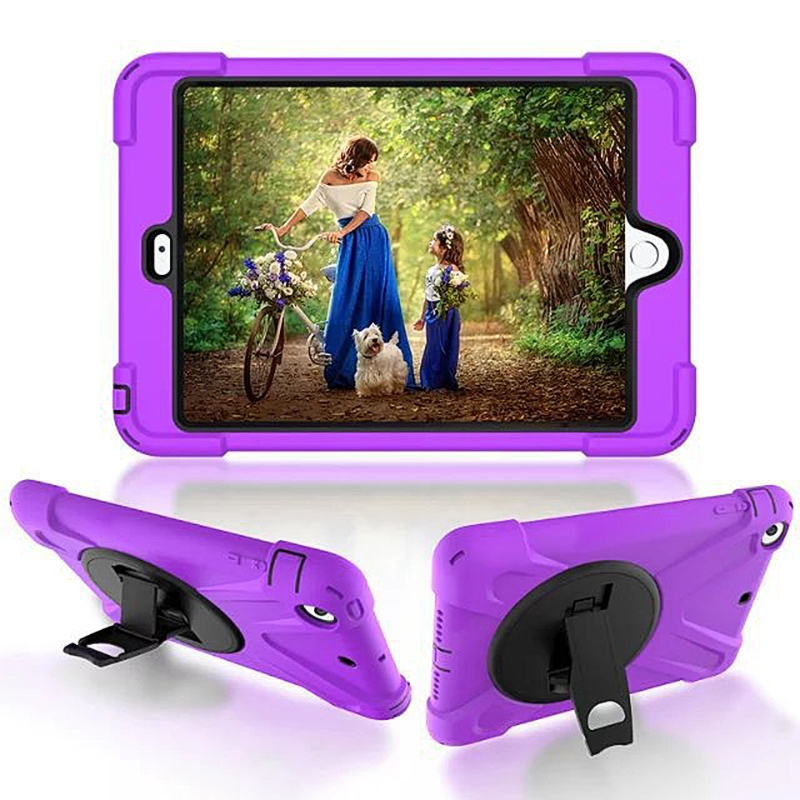 4 Shockproof Kids Protector Case For Ipad2/3/4 Heavy Duty Silicone Hard Cover Kickstand Design Hand Brace Diversified Latest Designs 3 For Ipad 2
