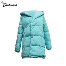 chesmono Women's Winter Cotton Padded Jackets loose Coat solid Parka Warm Long Jackets big Hooded Overcoat Female warm Parkas