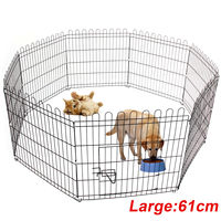 Pet Fence 8 Panel Puppy Dog Cat Rabbit Pig Playpen Enclosures Run Cage Foldable Dog Fence Rabbit Cage Dog Playpen