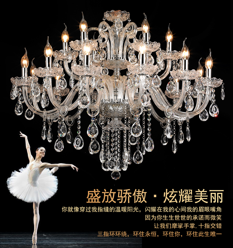 New Free Shipping Big Lustres Chandelier 100% K9 Crystal Luxury Large - Ներքին լուսավորություն - Լուսանկար 3