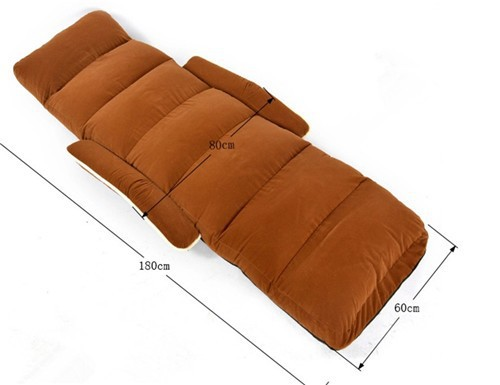 Chaise Lounge Chairs for Bedroom Adjustable Foldable Soft Suede ...