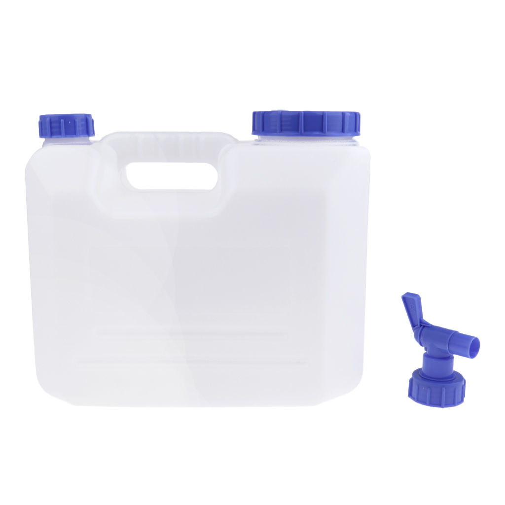15L PE Materials Outdoor Camping Car Water Carrier Canister Storage Container White Outdoor Camping Hiking