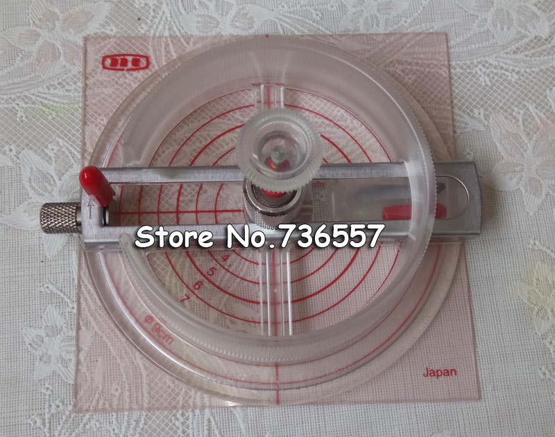 Adjustable Round Rotary Circle Graphic Paper Cutter Sharp Blade Die Board Button Maker