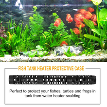 Aquarium Heater Protector Adjustable Length Sections Anti-explosion Heating Rod Shield Fish Tank Protective Case