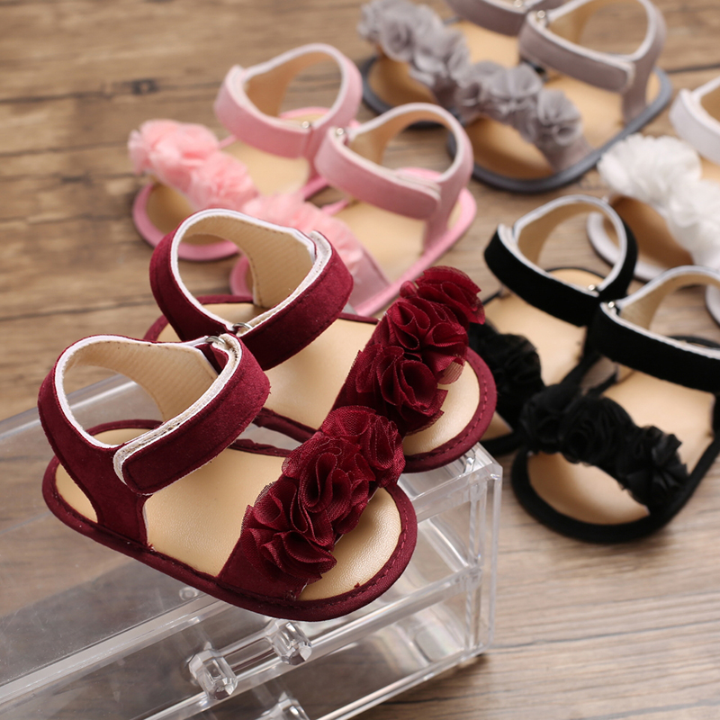 Flower Summer Walking Baby Shoes My First Prewalker Shoes Baby Girl Sneakers  Infant Soft Sole Walker Baby Slipper Shoe