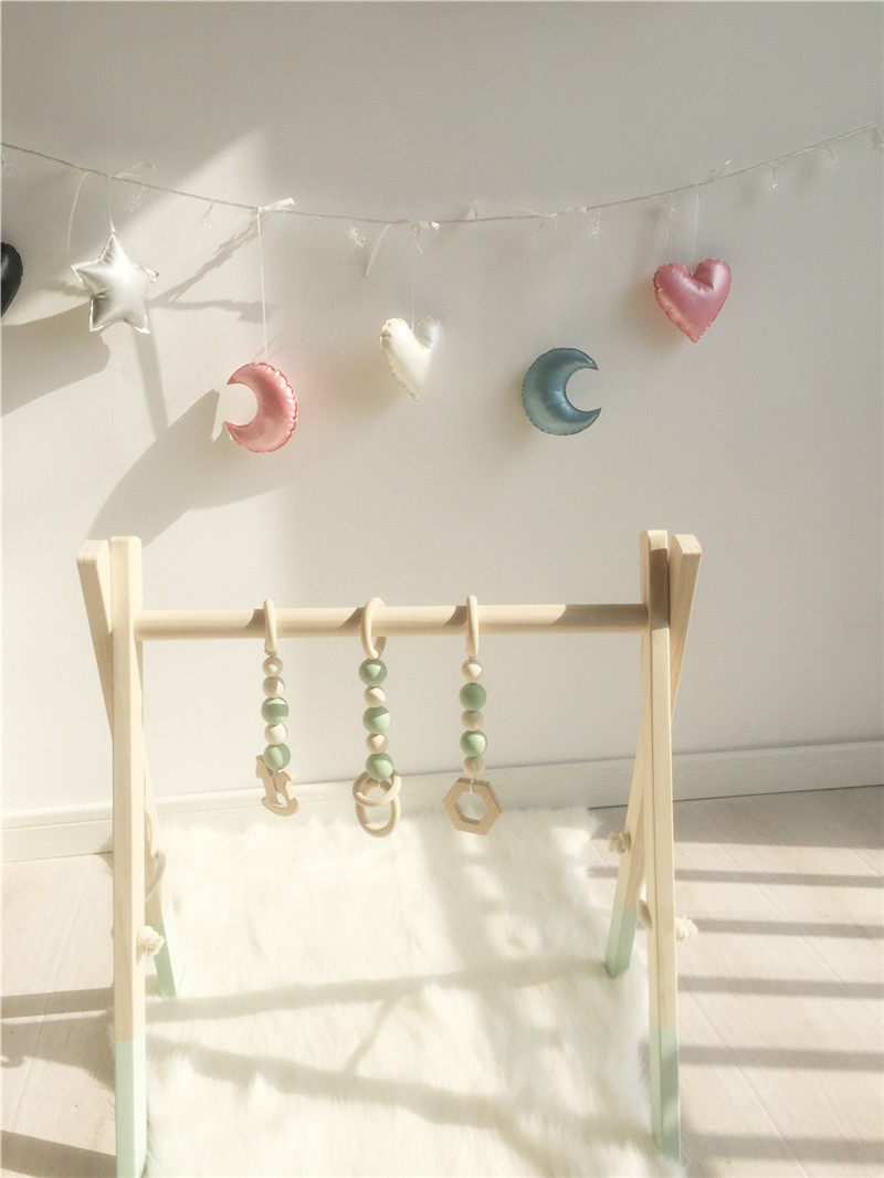 Nordic Stars Moon Hairball Hanging Decorations Kids Room
