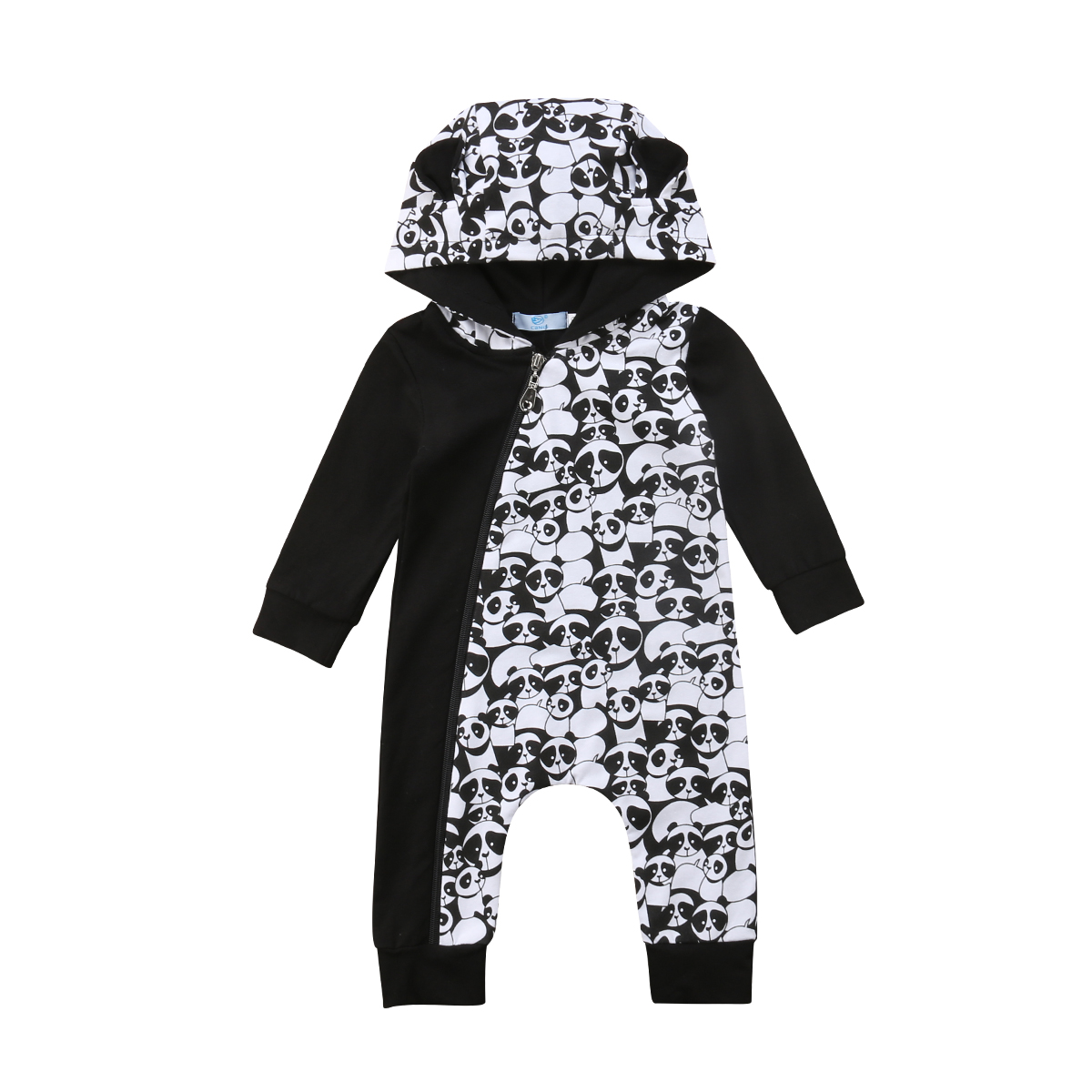 Autumn New Arrival Infant Baby Boy Girl Panda Clothes Hooded Jumpsuit Romper Outfit Long Sleeve Infant Set