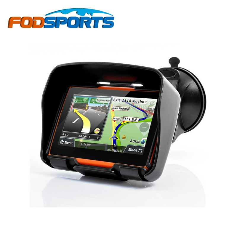 Fodsports brand!2016 Updated 256M RAM 8GB Flash 4.3 Inch Moto GPS Navigator Waterproof Motorcycle gps Navigation Free Maps!