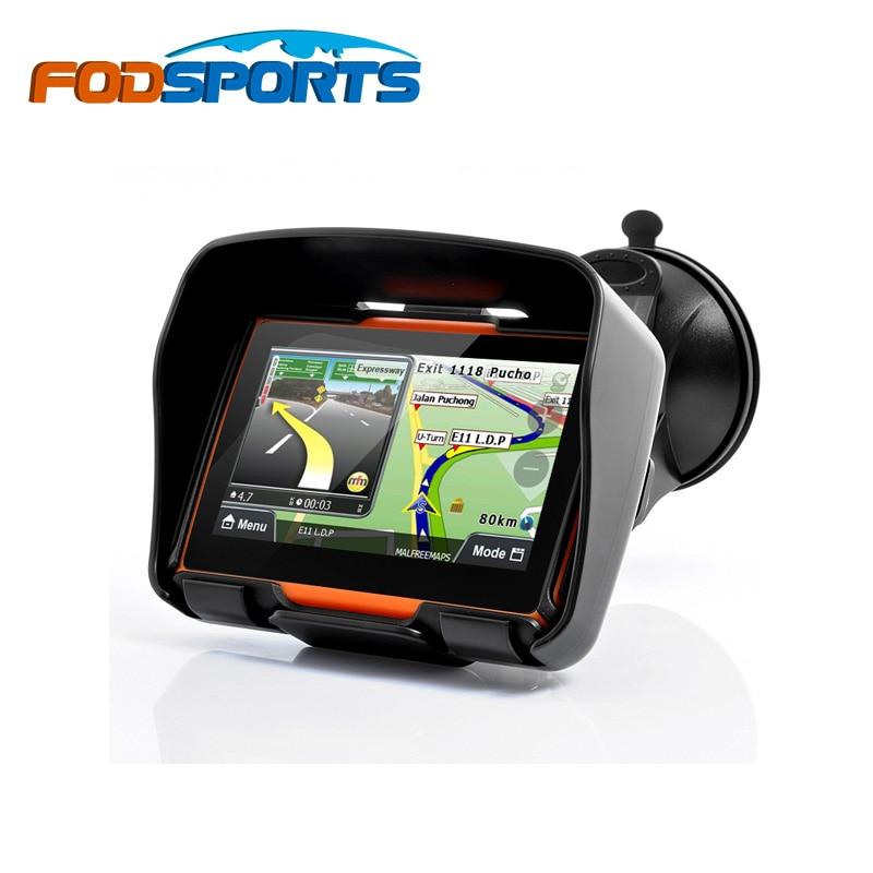 imágenes para Fodsports marca! actualizado 256 M RAM 8 GB Flash 4.3 Pulgadas Moto Navegador GPS de La Motocicleta Impermeable gps Mapas Gratuitos!