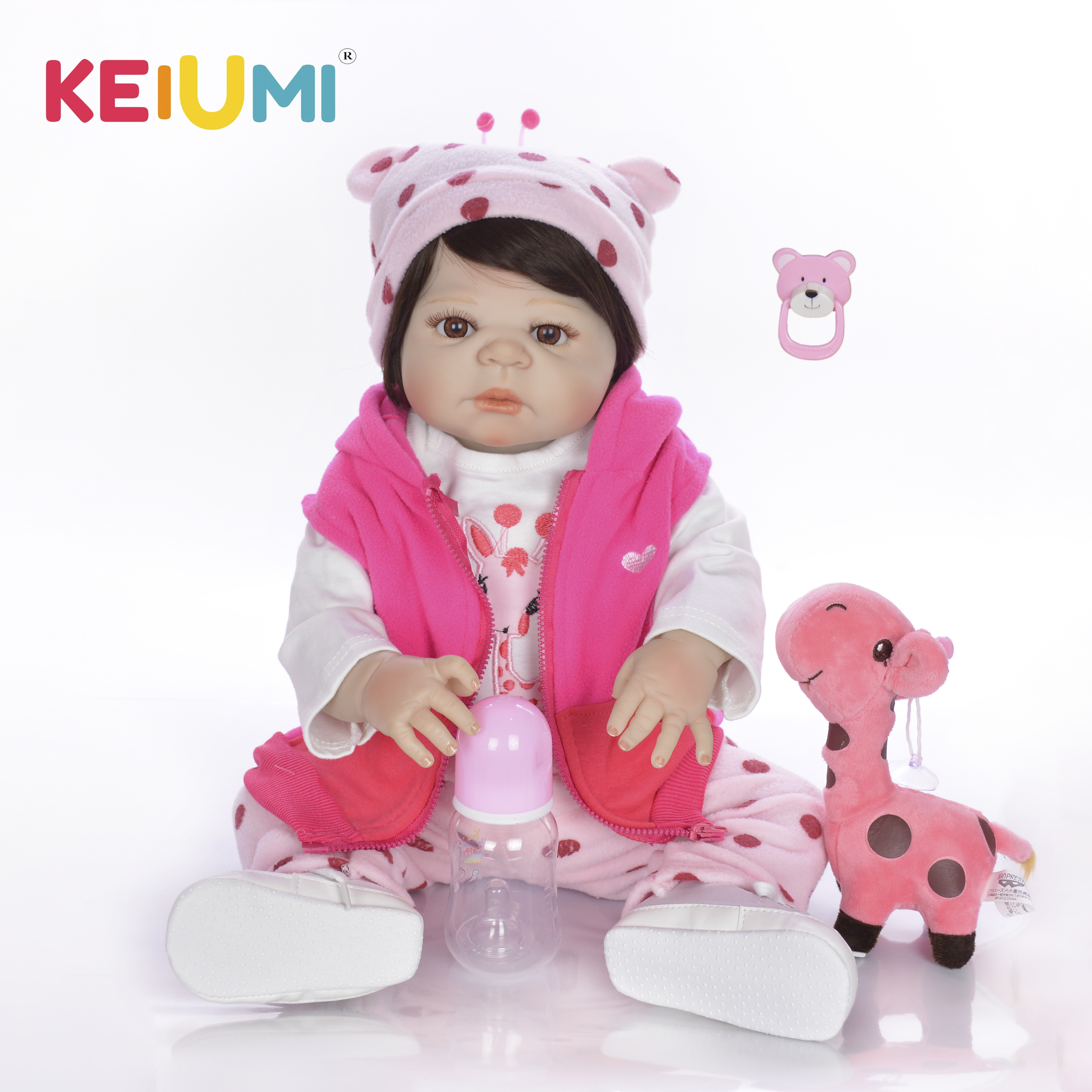 Special 23 57 cm Newborn Baby Girl Full Silicone Body Reborn Dolls Lifelike Kids Playmate Baby