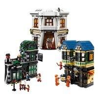 В наличии Харри Поттер фильм волшебное слово аллея модель здания комплект блок кирпичи Совместимость с Legoings 10217