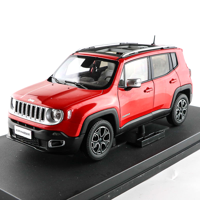 1:18 Diecast Model for JEEP Renegade 2016 Red SUV Alloy Toy Car Collection Gifts 1 18 all new jeep wrangler willys 2017 cabrio off road vehicle suv alloy toy car