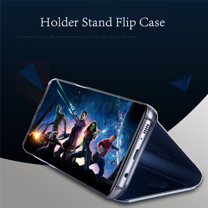 SHUOHU Luxury Flip 360 Protection Full Screen Window Cases for iPhone 7 6 6s Plus Clear Mirror Cover for iPhone X 8 Plus Case
